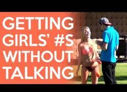Enlace a Así se consiguen números de chicas sin necesidad de abrir la boca
