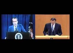 Enlace a Comparación de los discursos de Rajoy con Nixon. Nada más que añadir.