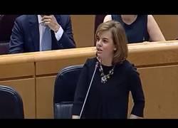 Enlace a Senador calla a Soraya: 'La monarquía forma parte de una hipoteca del pasado. ¡Viva la República!'