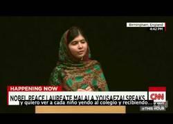Enlace a Este es el discurso de Malala después de recibir el premio Nobel de la paz