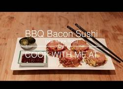 Enlace a BBQ Bacon Sushi - Una perfecta bomba calórica. ¿Te lo comes o pasas?