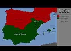 Enlace a Genial mapa de la Reconquista, en 800 años
