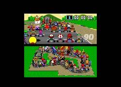 Enlace a ¡Brutal! Así sería una carrera de Mario Kart con 100 personajes diferentes sobre la pista