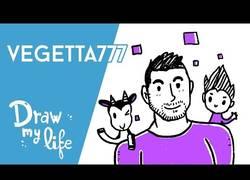 Enlace a Draw My Life de Vegetta777. El segundo youtuber con más sucriptores en España