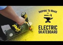 Enlace a Y así se construye un skateboard eléctrico con un taladro