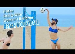 Enlace a Así sería el volleyball si los hombres llevasen equipación de mujer