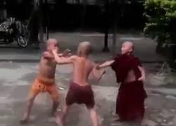 Enlace a La pelea entre niños budistas en este templo de Tailandia