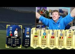 Enlace a A este youtuber le sale Cristiano Ronaldo en el FIFA y termina rompiendo la televisión