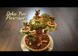 Enlace a Esta es la manera de hacer una tarta con la forma del árbol Deku de Zelda