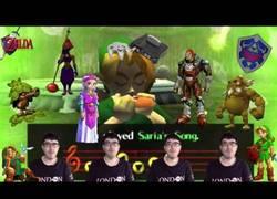 Enlace a Cantando acapella temas del Zelda Ocarina of Time y su resultado es épico