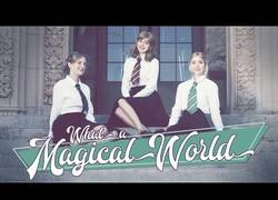 Enlace a La canción 'What a Magical World' versionada en el mundo de Harry Potter