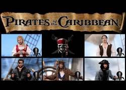 Enlace a Interpretando a capella la banda sonora de Piratas del Caribe