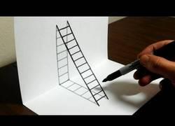 Enlace a La increíble técnica para dibujar una escalera en 3D