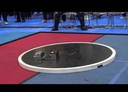 Enlace a La batalla de sumo de estos robots con una velocidad supersónica
