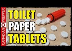 Enlace a El mejor invento y no tenías ni idea de su existencia: Papel higiénico en pastillas