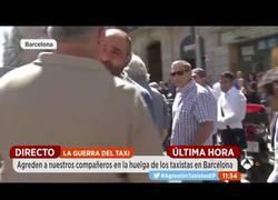 Enlace a Taxistas agreden a reportero de Antena 3 durante la huelga