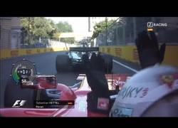 Enlace a Enganchada entre Vettel y Hamilton en Bakú
