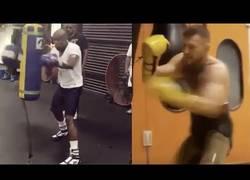 Enlace a La diferencia de entrenamiento entre Mayweather y McGregor que ridiculiza a este último