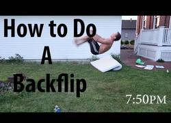 Enlace a ¡Aprende a hacer un back flip en tan solo seis horas!