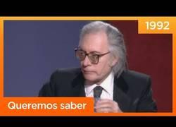 Enlace a El mitico enfado de Francisco Umbral en la television con Mercedes Milá de presentadora