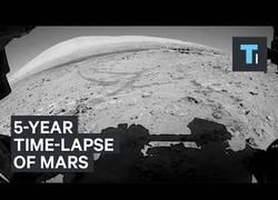 Enlace a El timelapse grabado por Curiosity en Marte durante 5 años