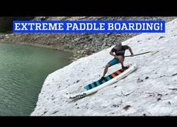 Enlace a Sí, es posible: existe la práctica del paddle surf extremo