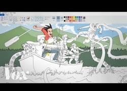 Enlace a Todo este dibujo ha sido realizado en su totalidad con Paint ¿Cómo?