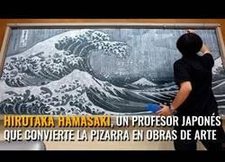 Enlace a Este profesor japonés convierte la pizarra en obras de arte