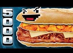 Enlace a El bocadillo monstruoso de 5000 kcal (433g grasa)