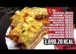 Enlace a La PIZZA de 4.000 calorías ¿La comerías?