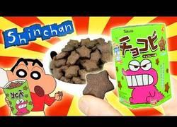 Enlace a Preparando las galletas de chocolate de Shin Chan