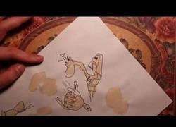 Enlace a Creando dibujos a partir de manchas de café
