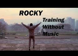 Enlace a Así suena la escena más famosa de Rocky sin su música de fondo