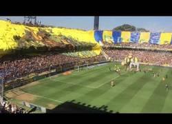 Enlace a La hinchada de Rosario Central desplega la bandera mas grande del mundo