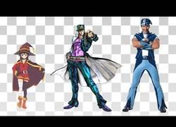 Enlace a Tamaño en escala de personajes de anime