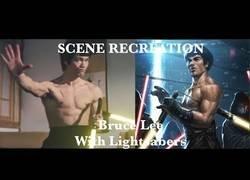 Enlace a Añaden sables láser a las películas de Bruce Lee y es simplemente espectacular
