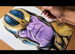 Enlace a El impresionante proceso de dibujar a Thanos plasmado en un timelapse