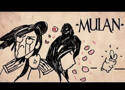 Enlace a Destripando la historia de Mulan con dibujos