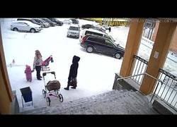 Enlace a Niña salva a su madre de caída de enorme masa de nieve