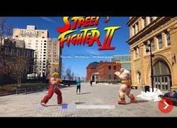 Enlace a Prueban el Street Fighter II con Realidad Aumentada y tiene una pinta brutal
