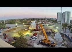 Enlace a Así se montó hace 5 días el puente colapsado en Miami