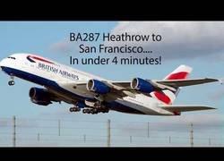 Enlace a Viaje en avión de Londres a San Francisco en tan solo 4 minutos