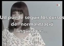 Enlace a Esto hizo hace años una presentadora de TV3 a una televidente que no hablaba catalán