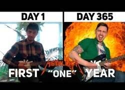 Enlace a El brutal progreso tocando 'One' de Metallica desde el día 0 a después de un año practicando