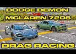 Enlace a Ponen frente a frente un Dodge Demon contra un McLaren 720S