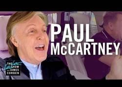 Enlace a Paul McCartney sorprende y se va de visita al Carpool de James Corden