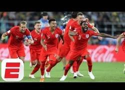 Enlace a La locura de los aficionados ingleses tras ganar a Colombia en el Mundial