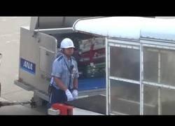 Enlace a El gran trabajo de estos empleados con el equipaje en un aeropuerto de Japón