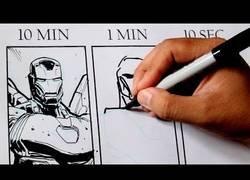 Enlace a La diferencia de dibujar un Iron Man en 10 minutos, 1 minuto y 10 segundos