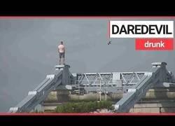 Enlace a Este tipo todo borracho no tuvo mejor idea que subirse a un puente de 45m de altura para huír de la policía